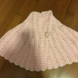 Knitted shawl for 1-3 yo girl