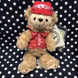 🚚 ✨香港 迪士尼 達菲熊 站姿吊飾 情人節限定版✨