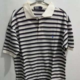 Kaos Kerah Polo Stripe