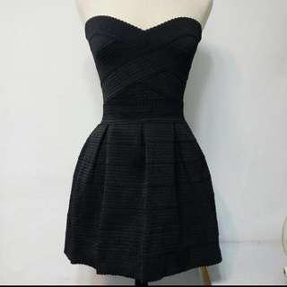 平口黑色裙小黑裙像筋彈力繃帶氣質性感顯身材