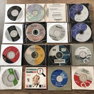 Software CD's (Operating Systems, Drivers, Utilities) for Older PC Systems