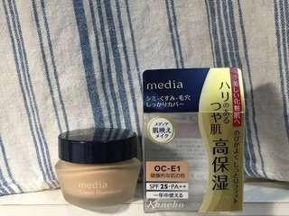 粉嫩保濕礦物粉底霜Media Cream Foundation