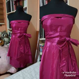 ribbon and bow cocktail dress