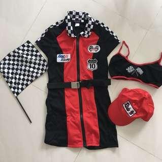 Halloween F1 Racer Girl Costume Dress