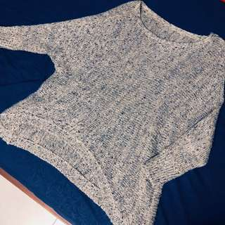 Topshop Basic Knit Oversize Sweater Pullover Blouse Brown