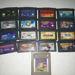 Authentic GBA and GB games