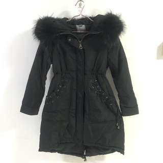 (REAL FUR) (FREE GLOVES) Winter Coat Down Jacket