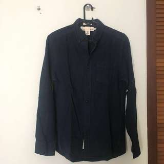 H&M Blue Navy Long Shirt (004)