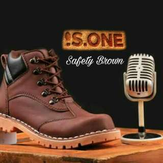 Safety brown kulit asli