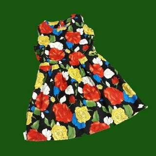 Lovely dress in flower prints