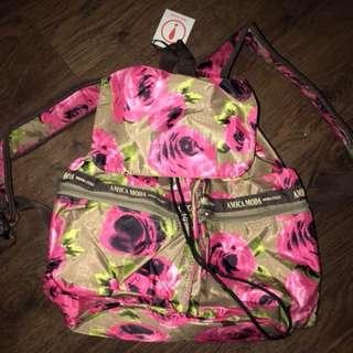Rose Flower Backpack