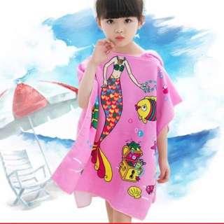Little Kid Bathrobe  Design: as attach photo  Size: 120*60cm  Suitable for 2-8yo kiddos