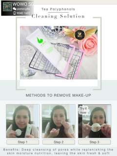 2 in 1 make up removal and cleansing solution