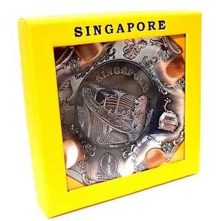 Display plate singapore  copper souvenir  home decor idea