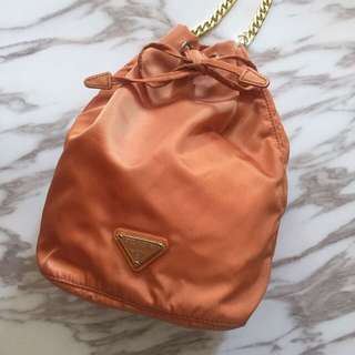Mini Prada bucket bag
