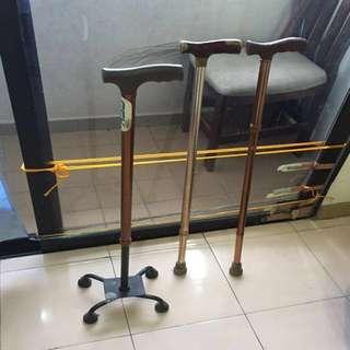 Walking Stick (tongkat) - 3 units + 1 wheelchair.