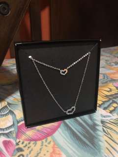 Helen Double Heart Pendant Necklace