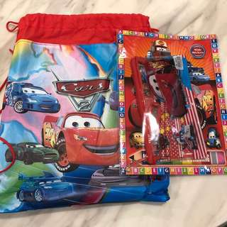 BN Cars Stationery Set with Bag