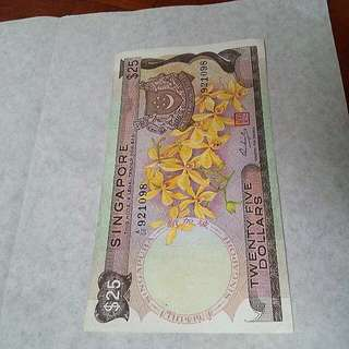 Ink error,  orchid series $25 rare A50 last prefix note 1pcs.