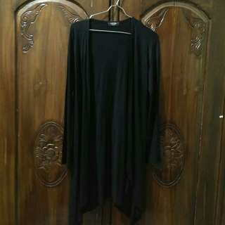 Black long cardigan / outer