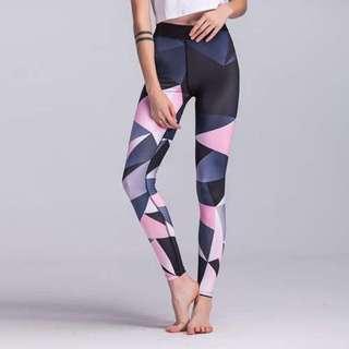 漸變印花瑜伽緊身彈力打底褲/Gradient yoga stretch tight leggings