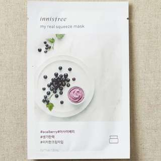 ❤️INSTOCKS❤️ Innisfree My Real Squeeze Mask [Acai Berry]-$1.30