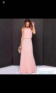 Pink long dinner / bridesmaid dress