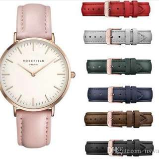 (PO) Rosefield Leather Strap Watch