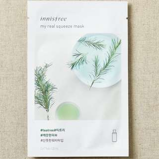 ❤️INSTOCKS❤️ Innisfree My Real Squeeze Mask [Tea Tree]-$1.30