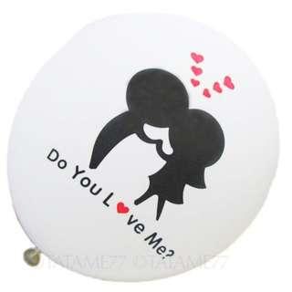 """Do you Love Me - 12"""" Balloons (White)"""