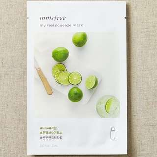 ❤️INSTOCKS❤️ Innisfree My Real Squeeze Mask [Lime] - $1.30