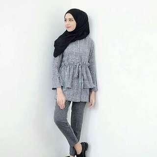 diana blouse black by gonegani