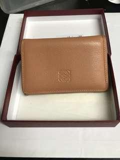 Loewe 珊瑚色coral 羊皮卡片套 card holder
