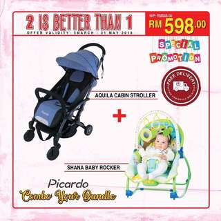 Stroller + Car Seat + Electric Swing