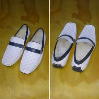 Pedro White Loafers Flat Leather Shoes