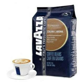 義大利進口 lavazza 拉瓦薩 咖啡豆 義式香濃 CREMA E AROMA 1KG (2.2lb)