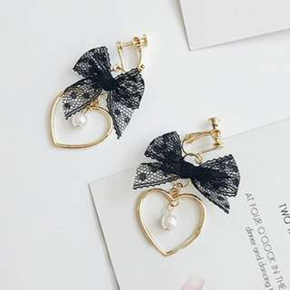 Black Widow Clip On Earrings