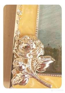 典雅高貴款 貝殼石+'銀  5R相架/框