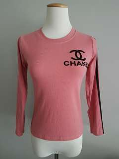 BRAND NEW: Chanel long-sleeved top (Pink)