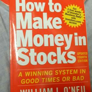 Trading Book How To Make Money In Stocks 4th Edition William O'Neil