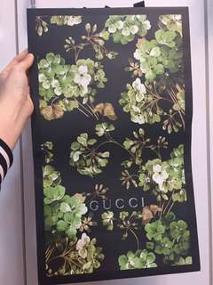 Gucci 特別版紙袋 paper bag from Japan
