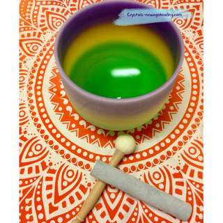 "Singing Bowl  Multi-Coloured 8"" for Crown Chakra"