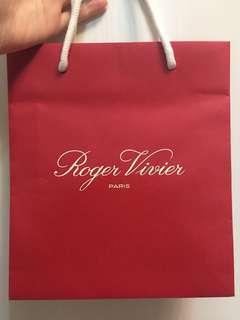 Roger Vivier Paris paper bag 紙袋
