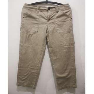 MANGO Khaki Capri Pants