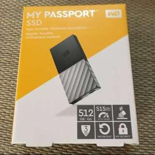 WD MY PASSPORT SSD 512 GB SILVER