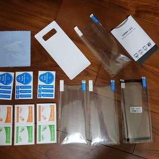 🚚 Samsung note 8 全屏水凝3D 保護膜x3 + 雙背模 + 相機貼 套裝
