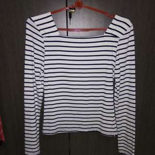 Striped Long Sleeve Cotton On Top