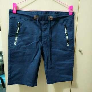 *全新 男版短褲 深藍色 男生短褲 休閒褲 牛仔褲#五十元好物