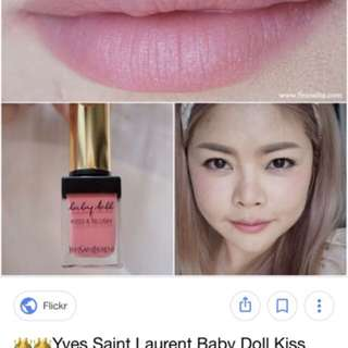 Ysl baby doll kiss & blush 唇面頰兩用