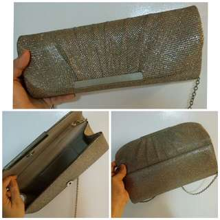 Silver Gold Clutch Bag